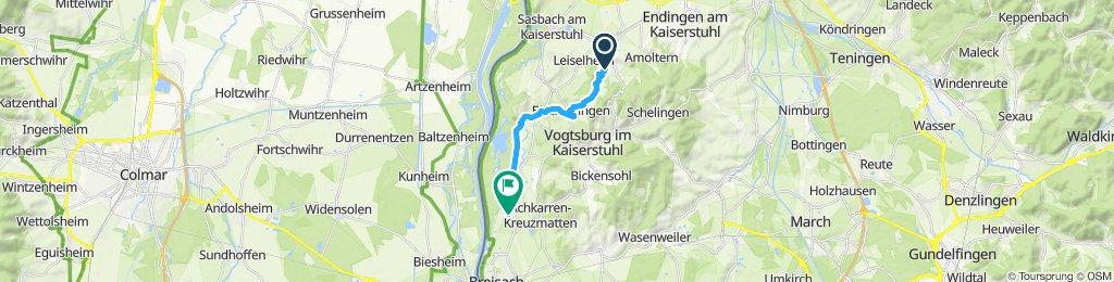 Gerade Fahrt in Breisach am Rhein