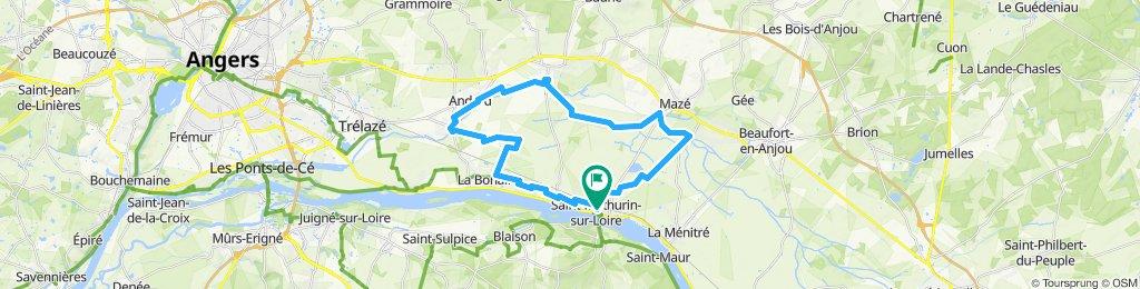 l'Authion à vélo; Saint Mathurin