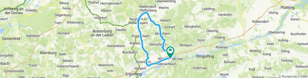 Wörth-Bayerbach-Penk-Oberlindhart-Neufahrn-Ergoldsbach-Unterwattenbach-Ohu-Wörth