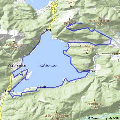 Walchensee Rundtour