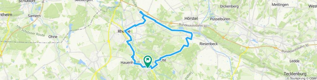 Rundtour mit Wasser Mesum - Bevergern - Kanal - Rheine-Ems - Mesum