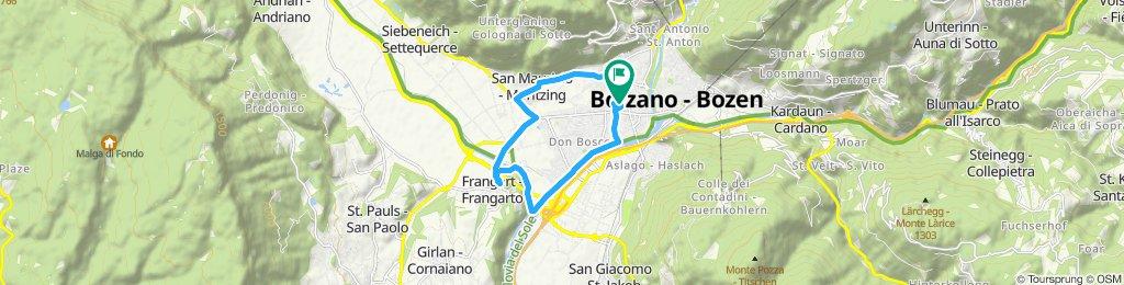 Percorso ad alta velocità in Bolzano 05.10