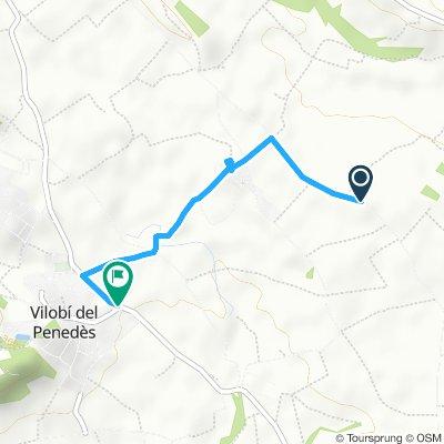 Paseo lento en Vilobí del Penedès