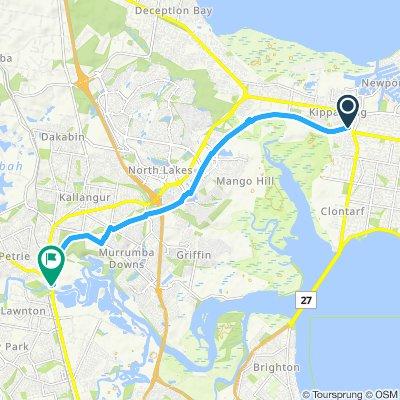 kippa ring to petrie 13km