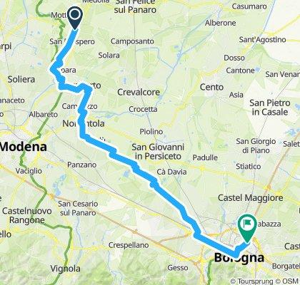 Überschallgeschwindigkeitsfahrt in Bologna