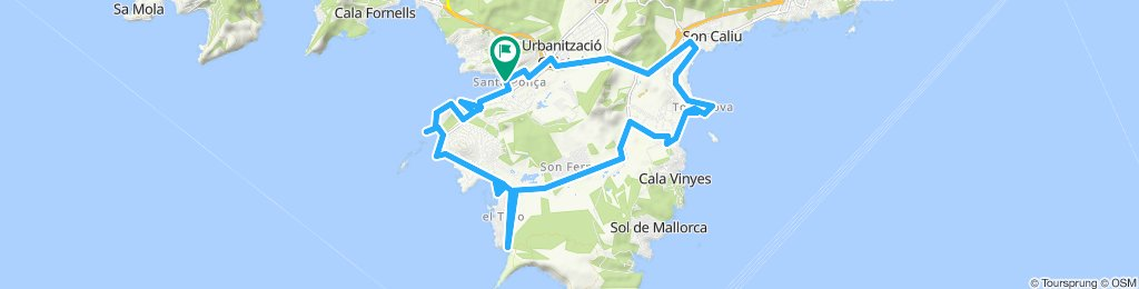 Santa Ponca - Ründchen El Toro - Son Ferrer - Sa Porrassa - Magaluf - Torrenova - Son Matias - Palmanova - Urbanisation Galatzo 2019
