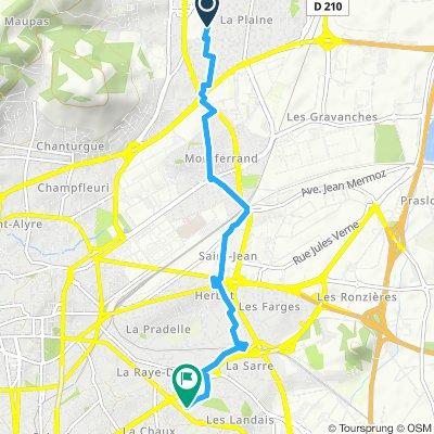Itinéraire reposant en Clermont-Ferrand