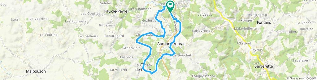 Itinéraire modéré en Aumont-Aubrac