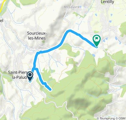 Itinéraire reposant en Lentilly