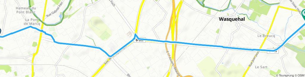 Itinéraire à grande vitesse en Croix