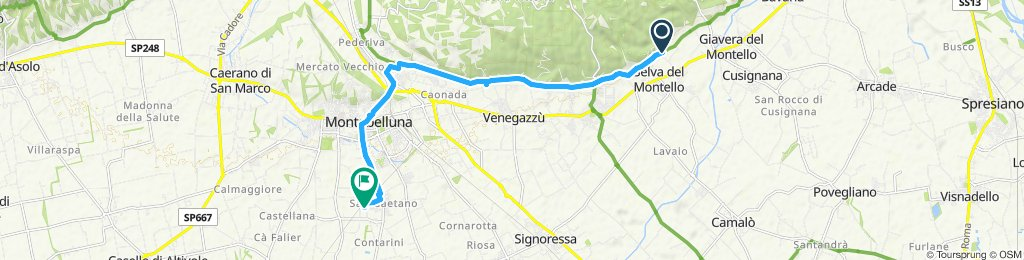 Giro semplice in Montebelluna