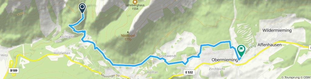 Route im Schneckentempo in Mieming