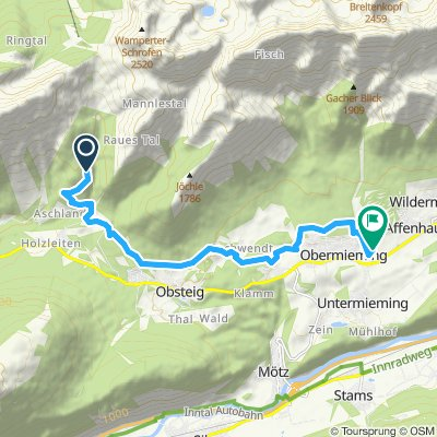 Route im Schneckentempo in Mieming