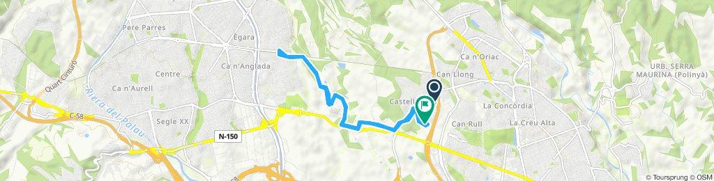 Ruta tranquila en Sabadell a terrasa