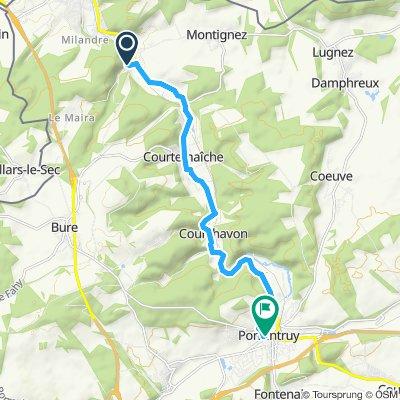Itinéraire reposant en Porrentruy