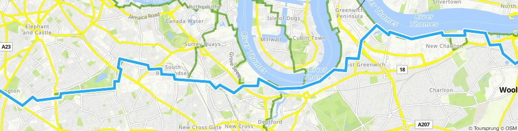 Woolwich to Vauxhall