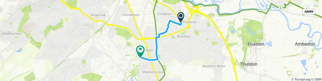 Moderate route in Derby