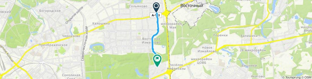 Осенние мокрые холодные ветреные велодоставки 09 10 2019 Возвращение из Гольяново с заездом в Сбербанк на 16й парковой часть3
