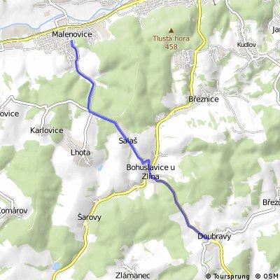 Malenovice - Salaš - Bohuslavice - Doubravy