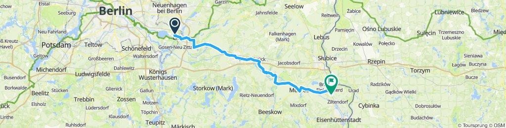 Berlin - Prag Etappe 01 Wilhelmshaven - Wiesenau