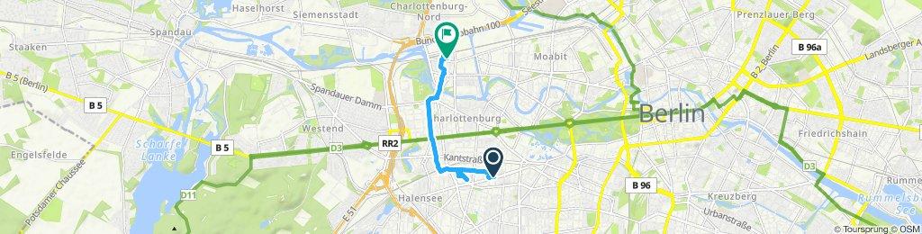 Einfache Fahrt in Berlin