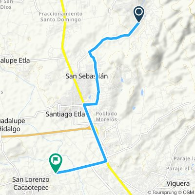 Ruta relajada en San Lorenzo Cacaotepec
