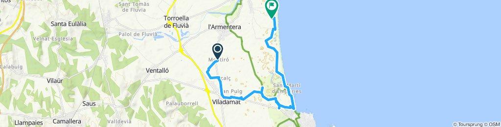 Gerade Fahrt in Sant Pere Pescador