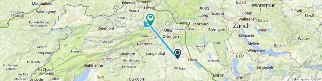 Gerade Fahrt in Waldenburg in