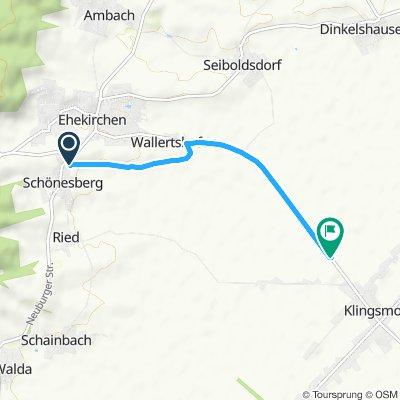 Gemütliche Route in Königsmoos