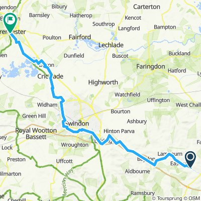East Garson to Cirencester