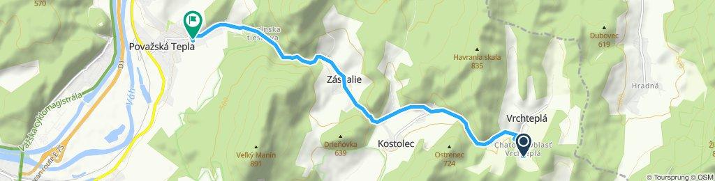 Restful route in Považská Teplá