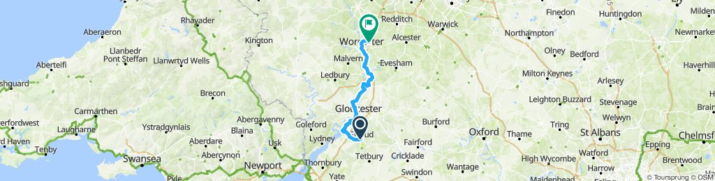 Stroud to Worcester