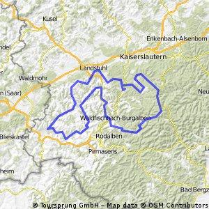 """RTF """"Durch den Pfälzer Wald und .."""" des RV 1921 Schopp e.V. (149km)"""