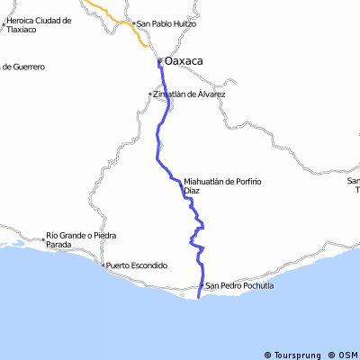 De Oaxaca a Puerto Angel