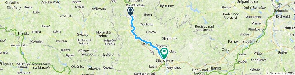 Berlin - Prag Etappe 10 Zabreh(Lestina) - Olomouc