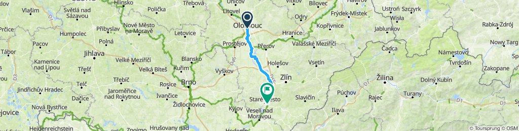 Berlin - Prag Etappe 11 Olomouc - Uhersky Hradiste