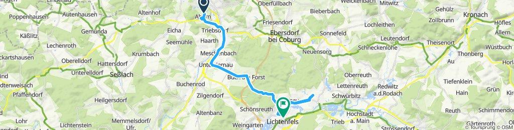 Sportliche Route in Lichtenfels