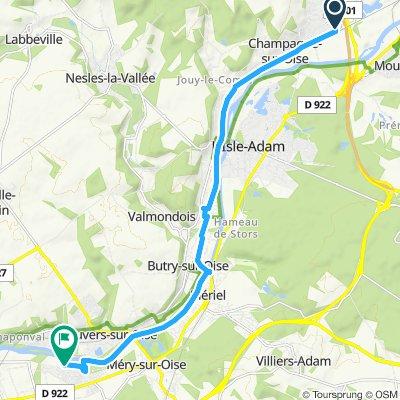 Itinéraire confortable en Méry-sur-Oise
