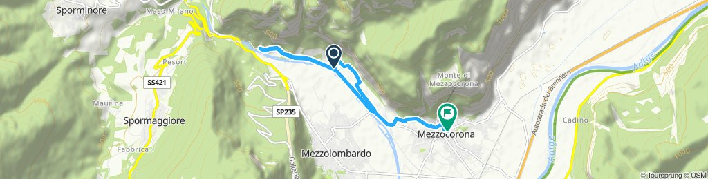 20191013 Percorso con corridore in Mezzocorona