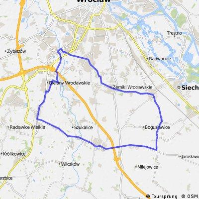 Wroc -> Domasław -> Żórawina -> Żerniki -> Wroc