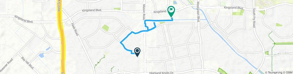 Moderate route in Katy