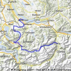 Wädenswil-Ägerisee-Sattel-Pragel-Glarus