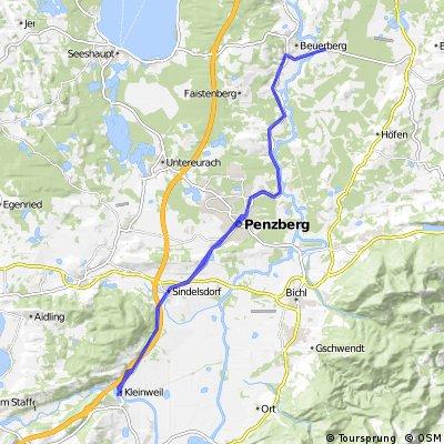 Königsdorf nach Großweil, auf dem Weg von MUC nach Garmisch