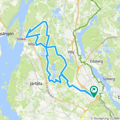 Forest route -- Kista - Upplands Vasby