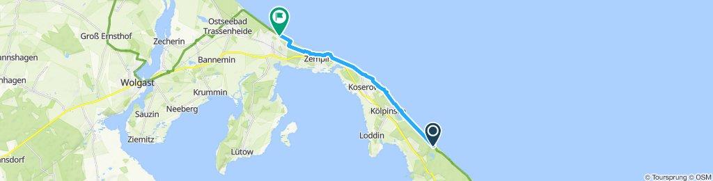 Gemütliche Route in Zinnowitz