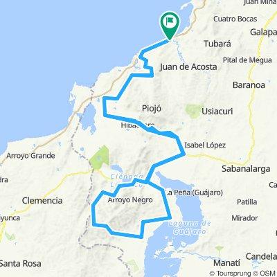 SOMBRERO VUELTIAO - Q. CASCABEL - EL CERRITO - HIBÁCHARO - MOLINERO - REPELÓN - LAS TABLAS - CIEN PESOS - SANTACRUZ - LURUACO - MOLINERO - HIBÁCHARO - EL CERRIT