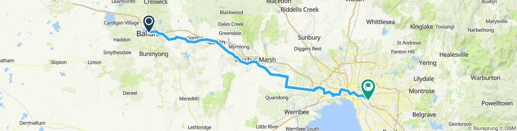 e-MTB Adventure Ride. Ballarat to Melbourne