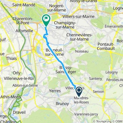 Itinéraire confortable en Saint-Maur-des-Fossés
