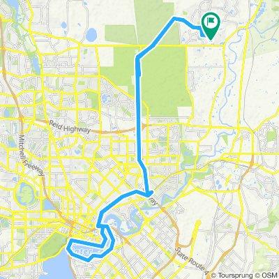 Restful route in Aveley