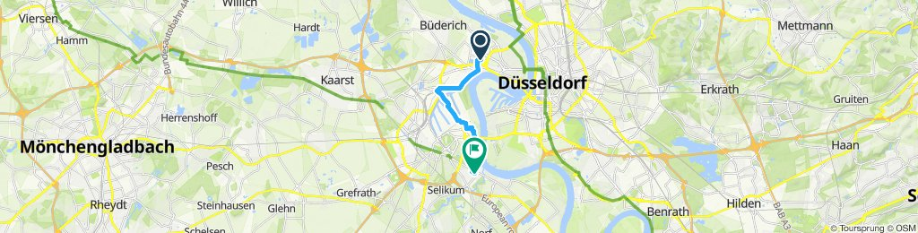 Sportliche Route in Neuss